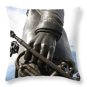 Throw Pillow featuring the photograph Satchmo by Beth Vincent