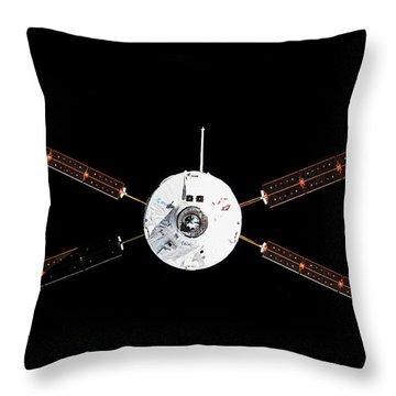Satellite In Space Throw Pillow