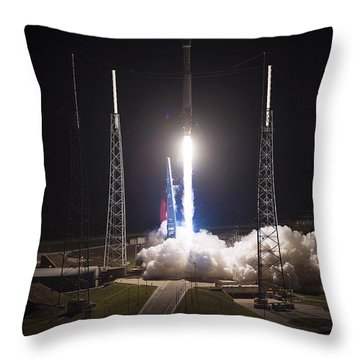 Satellite Launch Throw Pillow by Movie Poster Prints