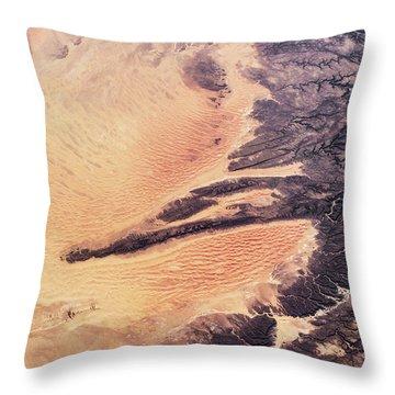 Satellite View Of Arid Landscape Throw Pillow