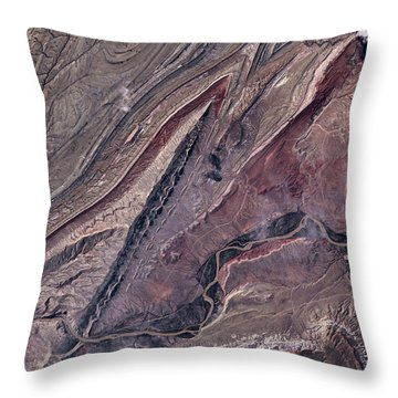 Satellite View Of Big Horn, Wyoming, Usa Throw Pillow