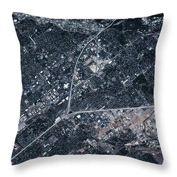 Satellite View Of Boise, Idaho, Usa Throw Pillow
