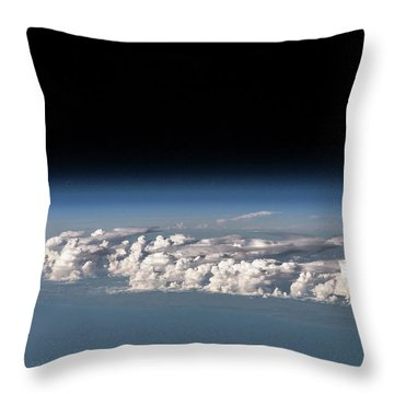 Satellite View Of Clouds Throw Pillow