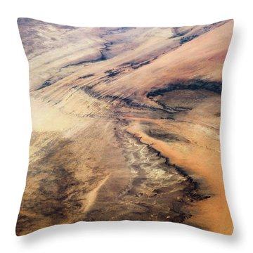Satellite View Of Desert Area, New Throw Pillow