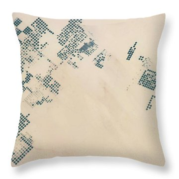 Satellite View Of Fields In North Throw Pillow