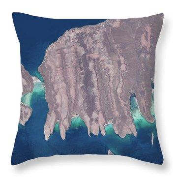 Satellite View Of Isla Del Espiritu Throw Pillow