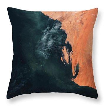 Satellite View Of Landscape, Michigan Throw Pillow