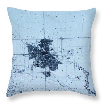Satellite View Of Regina, Saskatchewan Throw Pillow