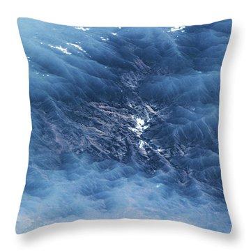 Satellite View Of Venezuelan Valley Throw Pillow