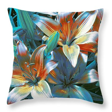 Satin Throw Pillow by Kathleen Struckle