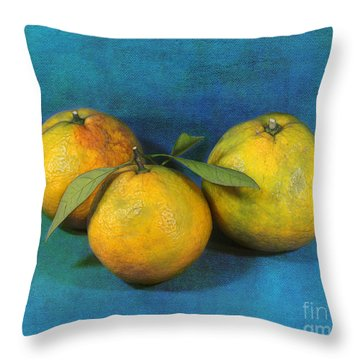 Satsumas Throw Pillow by Judi Bagwell