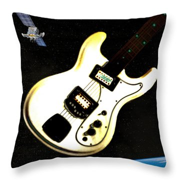 Sattelite  Throw Pillow by Bill Cannon