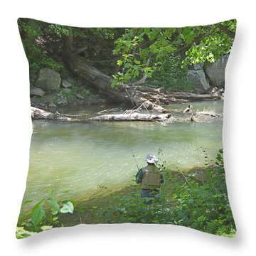 Saturday Afternoon Throw Pillow by Judith Morris