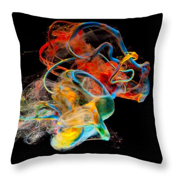 Saturday Throw Pillow by Modern Art Prints