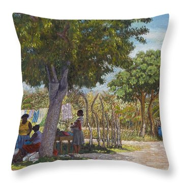 Saturday Morning At Blackwood Throw Pillow