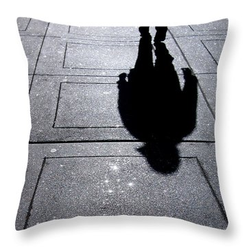 Saturday Morning In The Financial District Throw Pillow by Rona Black