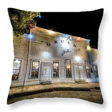 Saturday Night At Gruene Hall Throw Pillow