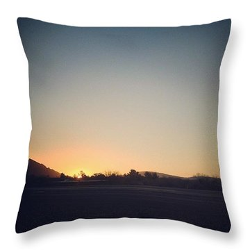 Saturday Sunrise Throw Pillow