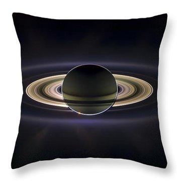 Saturn Throw Pillow by Adam Romanowicz