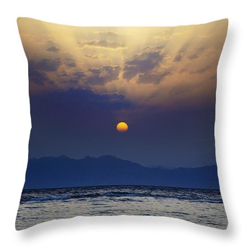 Saudi Sunrise Throw Pillow