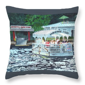 Saugatuck Chain Ferry Throw Pillow
