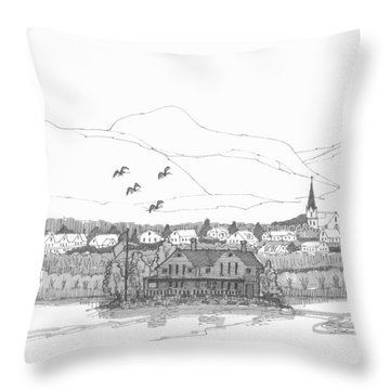 Saugerties From Tivoli Throw Pillow