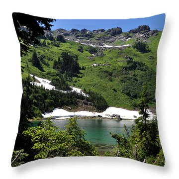Throw Pillow featuring the photograph Sauk Mountain Lake by Rebecca Parker