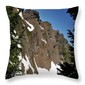 Throw Pillow featuring the photograph Sauk Mountain by Rebecca Parker