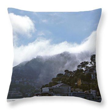 Sausalito- California Throw Pillow by Haleh Mahbod