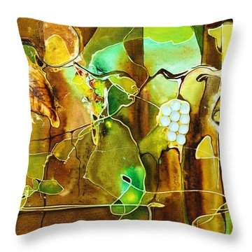 Sauvignon Blanc Throw Pillow by Pat Purdy