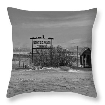 Throw Pillow featuring the photograph Savageton Cemetery  Wyoming by Cathy Anderson
