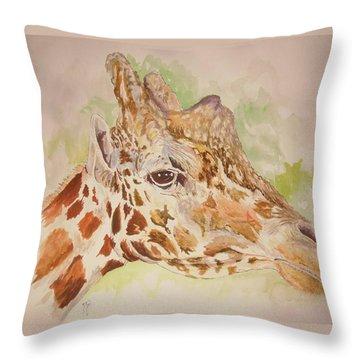 Savanna Giraffe Throw Pillow