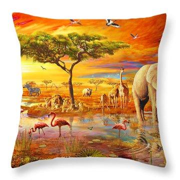 Savanna Pool Throw Pillow by Adrian Chesterman