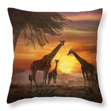 Savanna Sunset Throw Pillow
