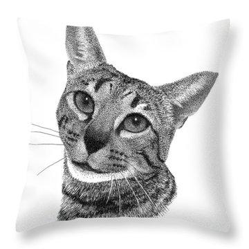 Savannah Cat Throw Pillow
