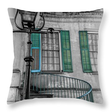 Savannah Green House Throw Pillow