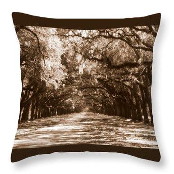 Savannah Sepia - The Old South Throw Pillow