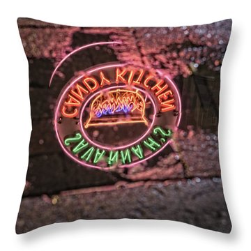 Brick Sidewalks Throw Pillows