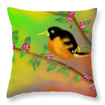 Throw Pillow featuring the digital art Save My Beautiful World by Latha Gokuldas Panicker