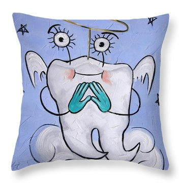 Saved Tooth Throw Pillow by Anthony Falbo