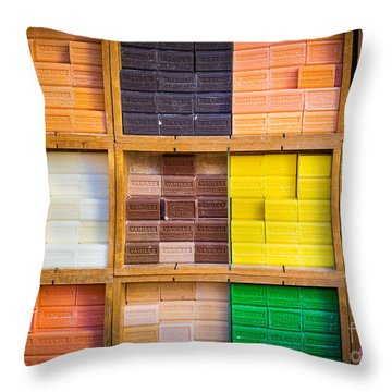Savons Provencale Throw Pillow by Inge Johnsson