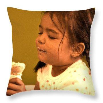 Savour The Flavour Baby Throw Pillow