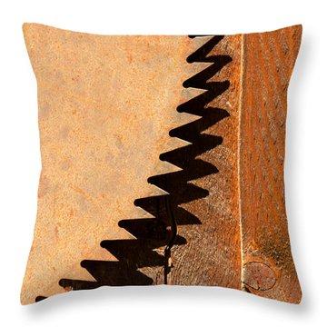 Saw Teeth Throw Pillow by Jess Kraft