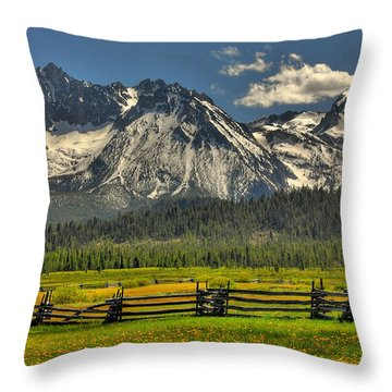 Sawtooth Mountains Throw Pillow