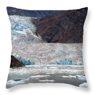 Throw Pillow featuring the photograph Sawyer Glacier by Jennifer Wheatley Wolf