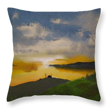Saxa Vord Radar Station Throw Pillow
