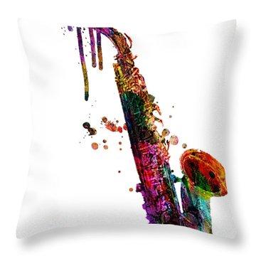 Saxophone 2 Throw Pillow