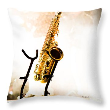 Saxophone  Throw Pillow by Bob Orsillo