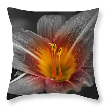 Say Something Throw Pillow