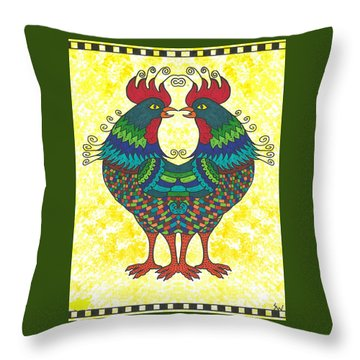 Say What Throw Pillow by Susie WEBER